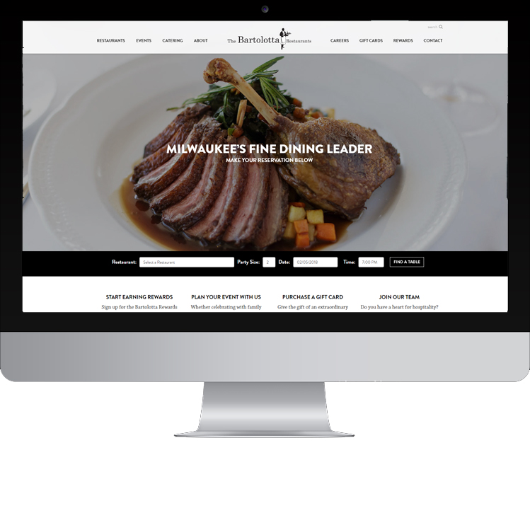 Bartolotta Restaurants Website Design