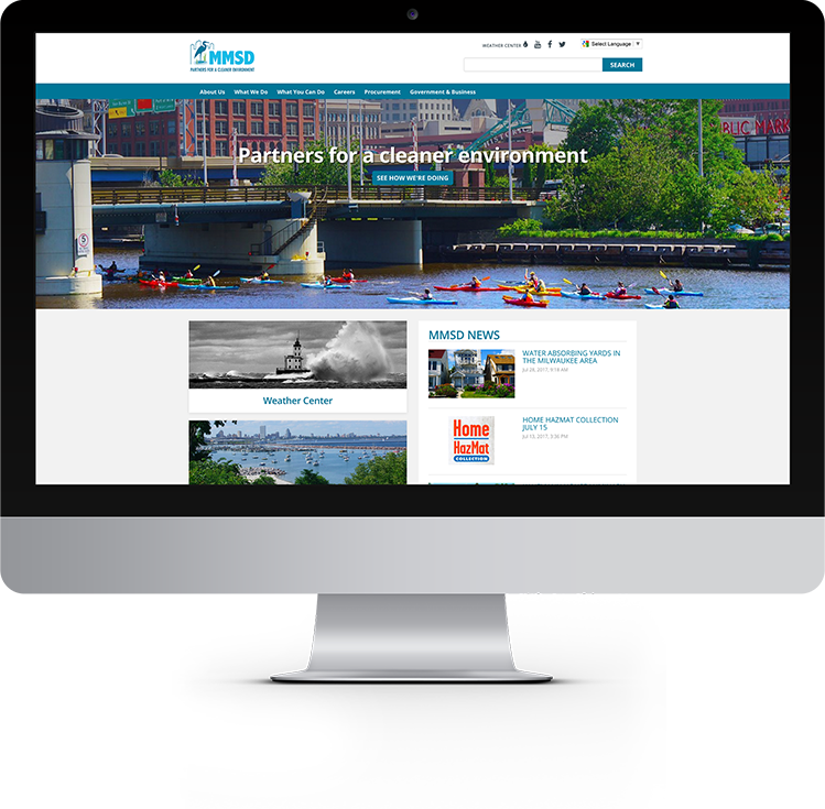 Milwaukee Metropolitan Sewerage District website design and marketing