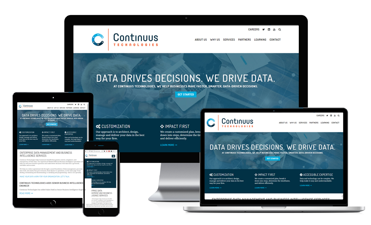 Continuus Technologies Website on various devices
