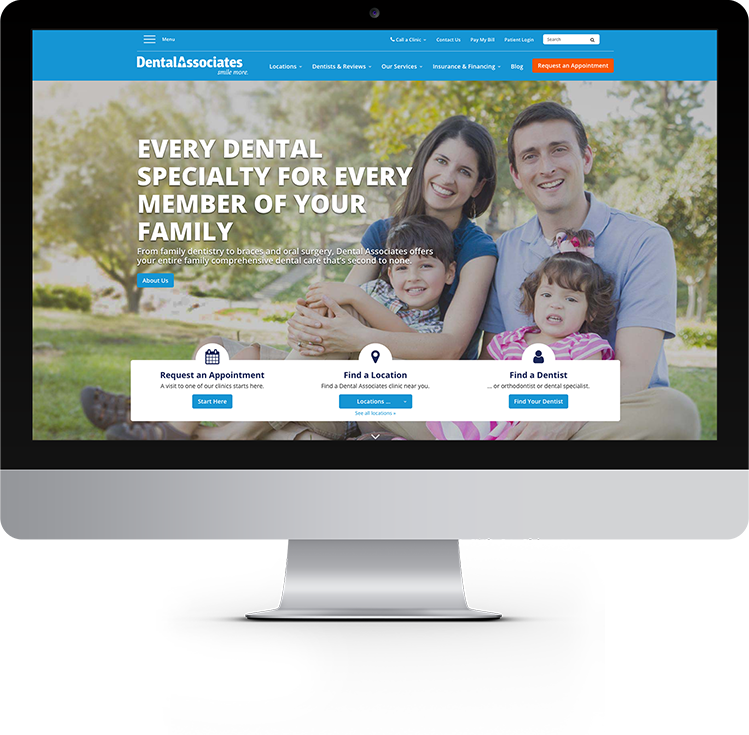 dental associates website design and strategy